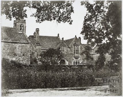 Part of north elevation and entrance to chapel, Great Chalfield Manor c.1858