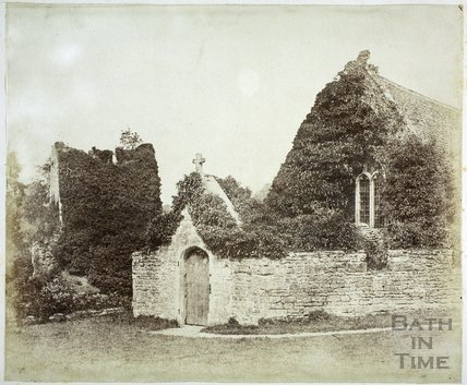 Farleigh Castle, showing part of the chapel c.1855