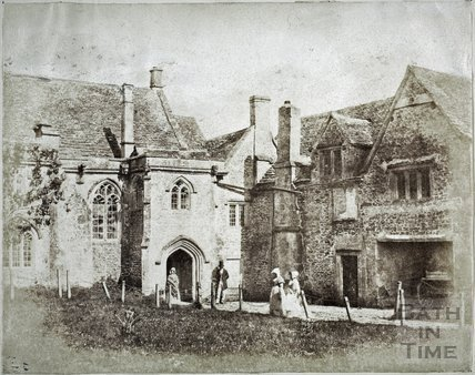 Entrance porch, South Wraxall Manor c.1858