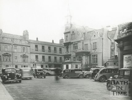 Blue Coat School and Palace Theatre, Sawclose, Bath 1936