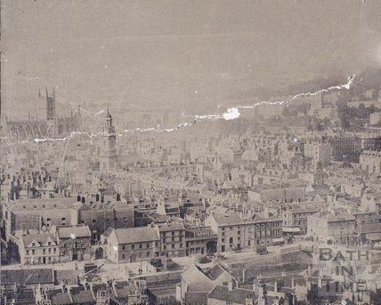 Panorama of City of Bath from Beechen Cliff c.1868 - detail