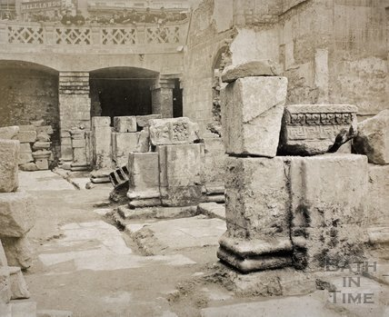 Roman Baths excavations, Bath c.1890