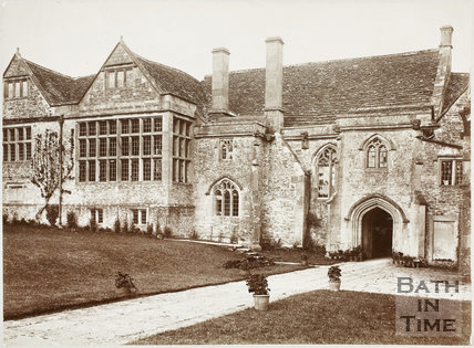 View of front of house, South Wraxall Manor c.1885