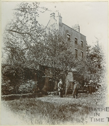 Second of three views of the Old Vicarage, Twerton, Bath c.1900