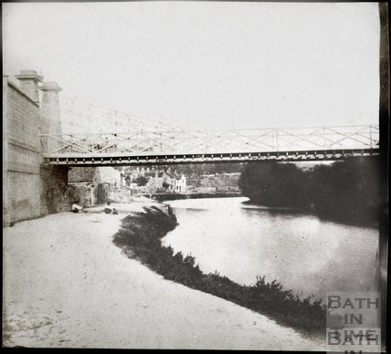 Part 1 of 2 section panorama of Motley's Bridge, Bath 1849
