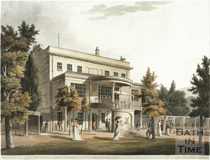 Sydney Gardens and rear of Sydney House (now Holburne Museum), Bath 1805