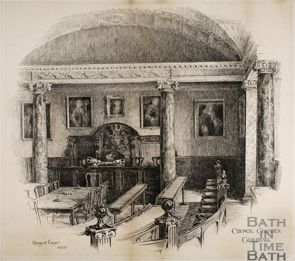 Council Chambers, Guildhall, Bath 1908