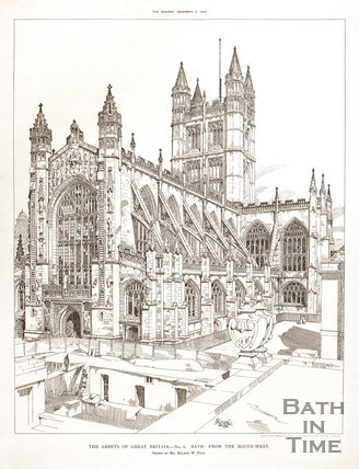 The Abbeys of Great Britain. No 6. Bath from the South West 1894