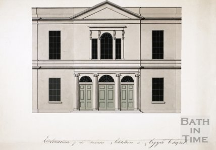 Elevation of the Intended Addition to Argyle Chapel, Bath