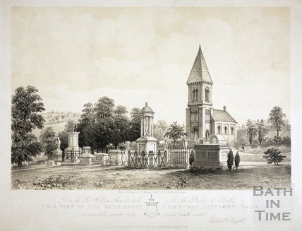 View of the Abbey Cemetery, Lyncombe Vale, Bath 1850