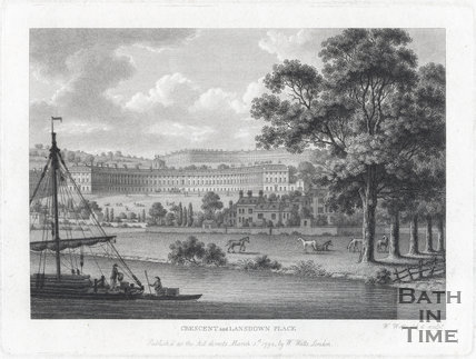 Royal Crescent and Lansdown Place, Bath 1794