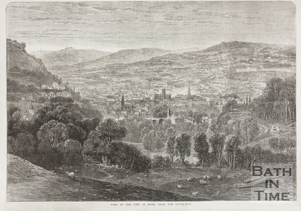 View of the City of Bath from the South-East c.1890