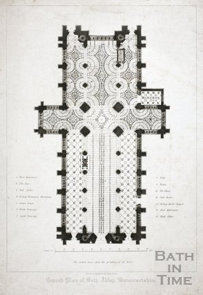 Ground Plan of Bath Abbey, Somersetshire