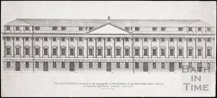 The Elevation to the South of the principle Pile of Building of Queen Square in Bath 1728