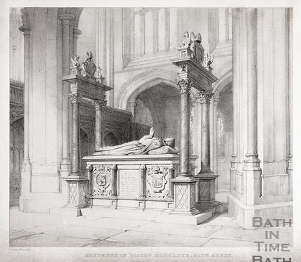 Monument of Bishop Montague, Bath Abbey, Bath c.1835?