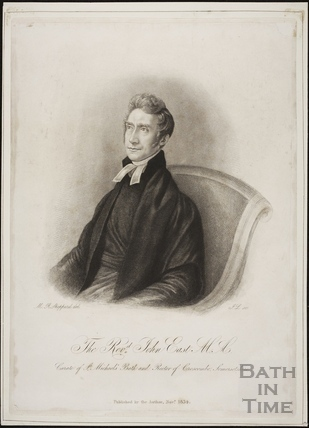 The Revd. John East M.A. Curate of St. Michael's, Bath and Rector of Croscombe, Somersetshire 1834
