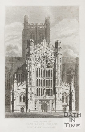 The West Front of the Abbey Church, Bath c.1815