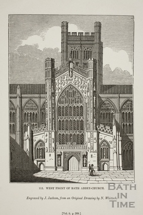 West Front of Bath Abbey Church, Bath 1835