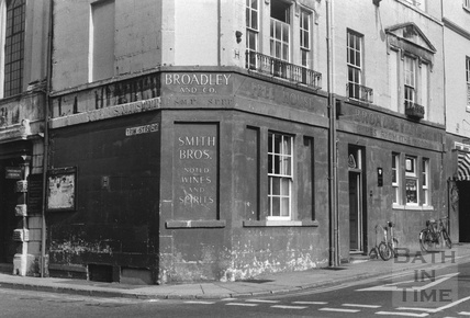 Broadley and Co, Smith Bros, on the corner of Trim Street and Saw Close 1960s