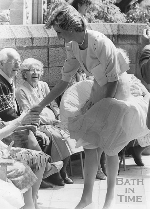 Princess Diana meeting residents in Twerton, Bath 31 May 1985