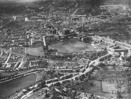 c.1930 View of Bath looking north with the undeveloped area of Bathwick to the bottom right hand corner