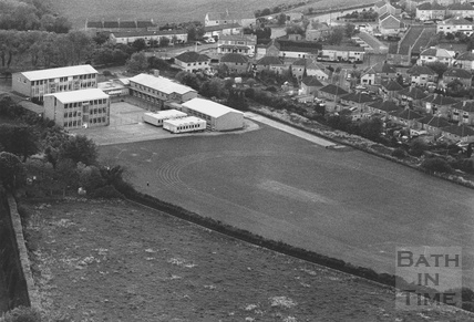 1991 Aerial view of St Gregory Catholic Comprehensive School, Odd Down, Bath 24 May