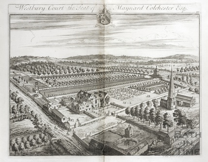 Westbury Court, the Seat of Maynard Colchester Esq. by Johannes Kip 1712