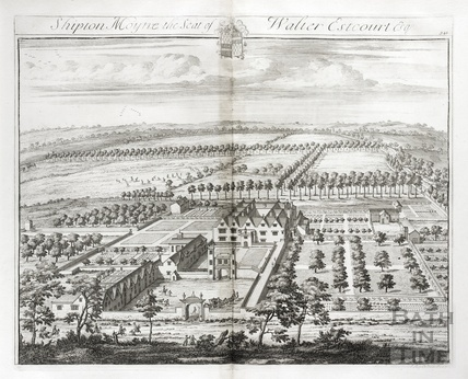Shipton Moyne, the Seat of Walter Estcourt Esq. by Johannes Kip 1712