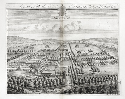 Clower Wall, the Seat of Francis Wyndham Esq. by Johannes Kip 1712