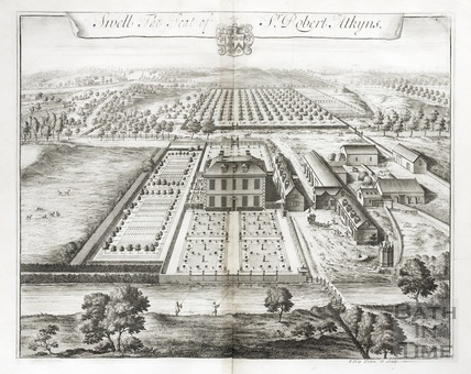 Sivell, the Seat of Sir Robert Atkyns by Johannes Kip 1712