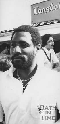 Cricketer Viv Richards at Lansdown Cricket Club 1982