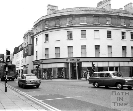 The Plummer Roddis building, on the corner of New Bond Street and Northgate Street, January 1969