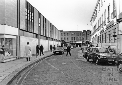 The side of the Southgate Shopping Centre in New Orchard Street, looking west, February 1990