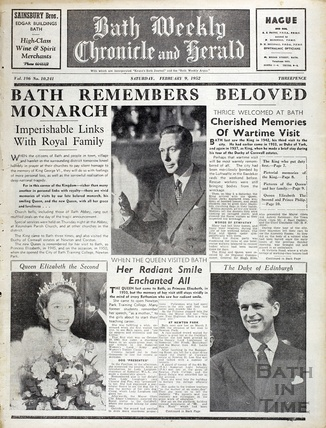 The death of King George VI February 9 1952