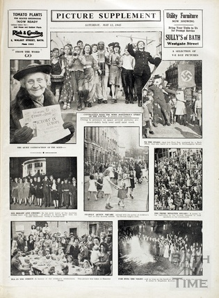 VE Day celebrations in Bath, May 12th 1945