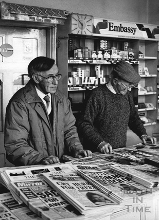 The Dagger brothers and their newsagent's, November 1989