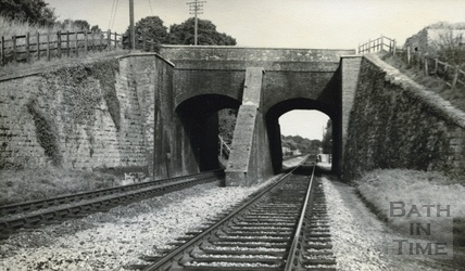 View of Avoncliff Aqueduct from the railway below c.1950
