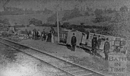 Accident on the Somerset & Dorset railway between Radstock and Wellow 1876
