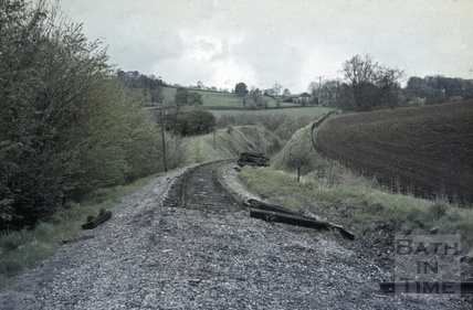 Trackbed at Midford, the end of the line October 1967