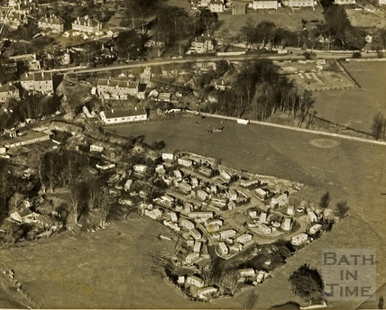c.1950s Aerial View of Quarry Rock Gardens, Claverton Down
