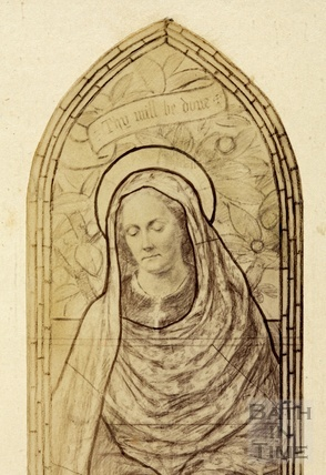Design for stained glass window of Countess of Northesk, wife of the 8th Earl - detail