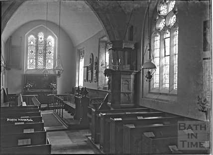 Inside North Wraxall Church, Wilts, c. Nov 1933