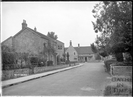 Street scene at Ditcheat near Shepton Mallett, Somerset c.1936