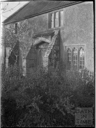 Cottage exterior, Compton Martin, Chew Valley, Somerset c.1930s