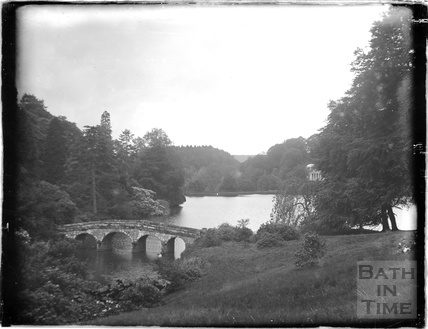 The bridge at Stourhead, Stourton, c.1920s