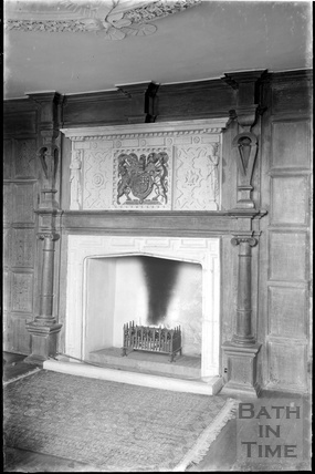 Fireplace, thought to be inside Gournay Court, West Harptree, Somerset c.1930s