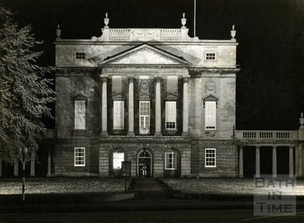 The floodlit Holburne Museum, 1950s