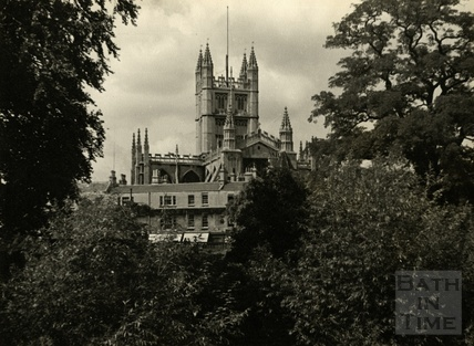 View of Bath Abbey, 1950s