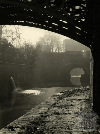 View under the bridge of the Kennet and Avon Canal, Sydney Gardens, Bath June 1953