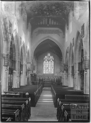 Inside All Saints Church, Castle Cary, Somerset, 1935